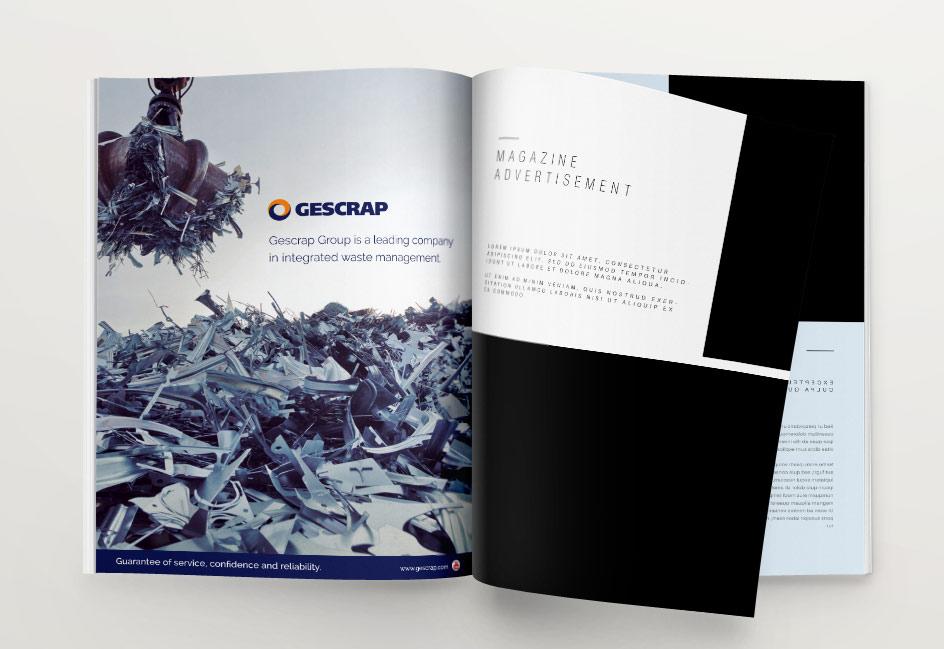 diseño anuncio revista